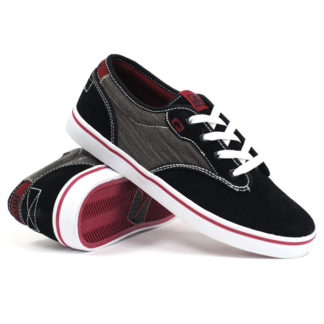 GLOBE MOTLEY BLACK/DARK/RED SHOES