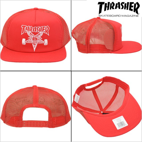 0e8be1ed380 THRASHER SKATEGOAT MESH CAP - Contamined Skate Shop