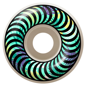 Classic swirls with a floral twist. 99duro in classic shape. Comes with Spitfire sticker. Available in 52mm, 53mm and 54mm.