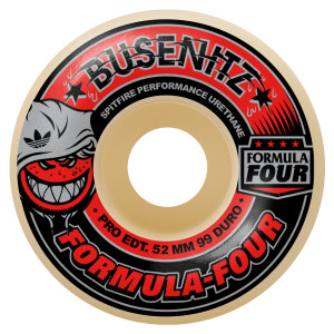 Limited Edition Dennis Busenitz Adidas Formula Four 99duro - classic shape. Comes with LTD edition Busenitz wheel card and Spitfire sticker.