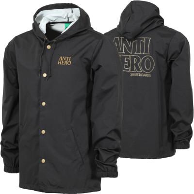 anti-hero-blackhero-embroidered-hooded-coach-jacket-black-brown