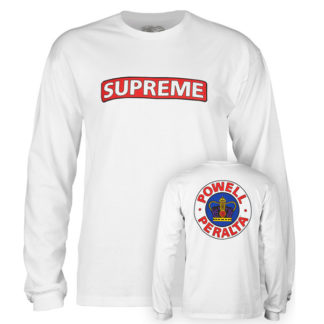POWELL PERALTA SUPREME LONG SLEEVE WHITE