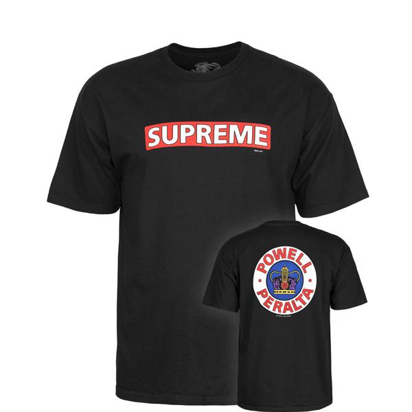 0f4eb401c POWELL PERALTA SUPREME T-SHIRT BLACK - Contamined Skate Shop