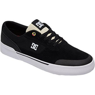 DC SWITCH PLUS S SHOES BLACK WHITE RED