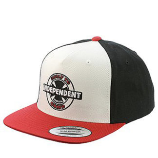 INDEPENDENT 95 BTG RING SNAPBACK RED BLACK