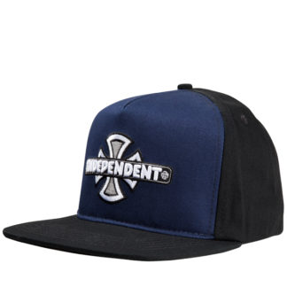 INDEPENDENT CAP VINTAGE CROSS SNAPBACK BLACK/BLUE