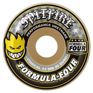 SPITFIRE WHEELS F4 CONICAL WHITE YELLOW 52MM 99A