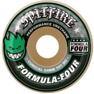 SPITFIRE F4 CONICAL WHITE GREEN 52MM 101A WHEELS