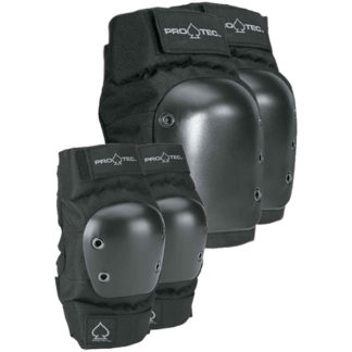 PRO-TEC STREET KNEE & ELBOW SET DI PROTEZIONI BLACK