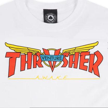 THRASHER X VENTURE TRUCKS MAGLIETTA A MANICHE CORTE
