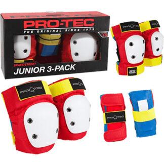 PRO-TEC STREET GEAR JUNIOR 3 PACK PAD SET RETRO