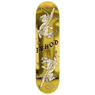 "REAL SKATEBOARD ISHOD CAT SCRATCH GOLD 8.25"""