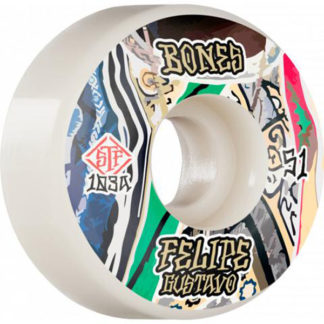 BONES WHEELS FELIPE GUSTAVO STF V1 PRO SERIES WHITE 51MM 103A
