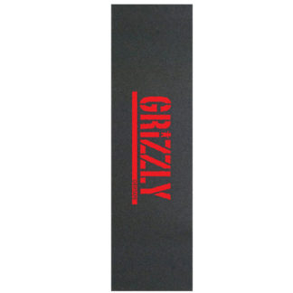 GRIZZLY STAMP PRINT GRIPTAPE RED