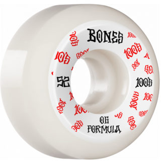 BONES WHEELS OG FORMULA V5 100A 52MM WHITE RED