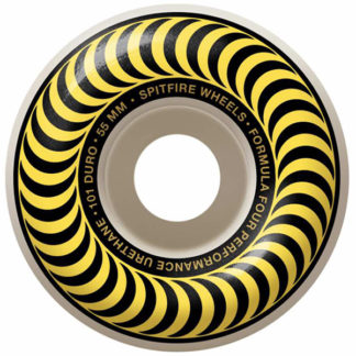 SPITFIRE WHEELS FORMULA FOUR CLASSIC 55MM 99A WHITE YELLOW