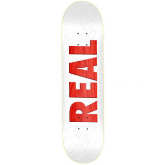 "REAL TEAM BOLD 8.5"" DECK WHITE"