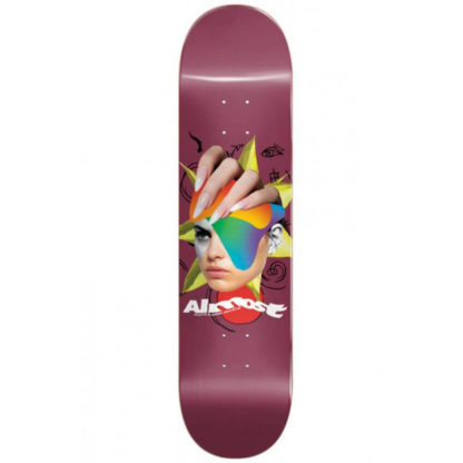 """ALMOST TEAM FACE COLLAGE LOGO R7 8.25"""" DECK"""