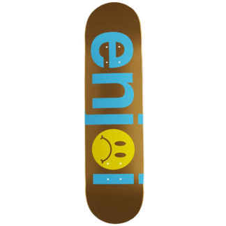 "ENJOI FROWNY FACE NO BRAINER 7.75"" DECK BLUE GOLD"