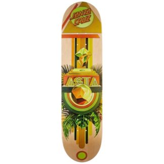 "SANTA CRUZ ASTA PARAGON POWERPLY 8.0"" TAPER TIP DECK"