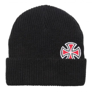 INDEPENDENT SOLO CROSS BEANIE BLACK