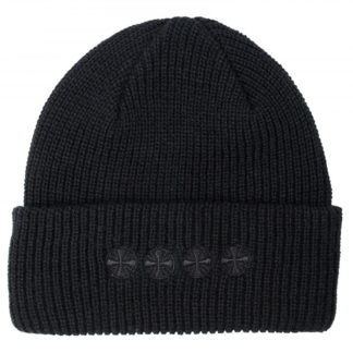 INDEPENDENT CHAIN CROSS BEANIE HEATHER BLACK