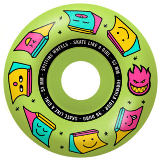 SPITFIRE WHEELS X SKATE LIKE A GIRL FORMULA FOUR SLAG RADIAL GLOW 53MM 99A