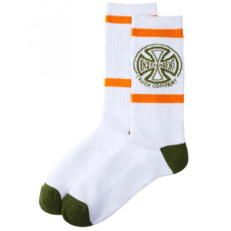 INDEPENDENT CONVERGE SOCKS WHITE