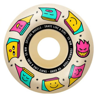 SPITFIRE WHEELS X SKATE LIKE A GIRL FORMULA FOUR SLAG RADIAL NATURAL 55MM 99A