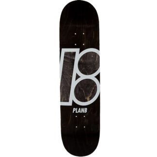 "PLAN B TEAM STAIN 8.25"" DECK BLACK-WHITE"