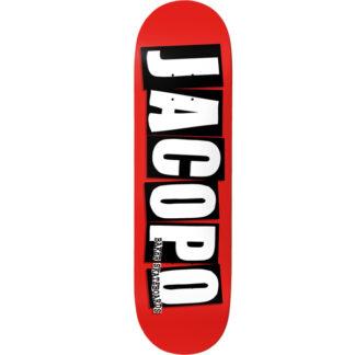 "BAKER LOGO JACOPO CAROZZI 8.25"" PRO DECK RED"