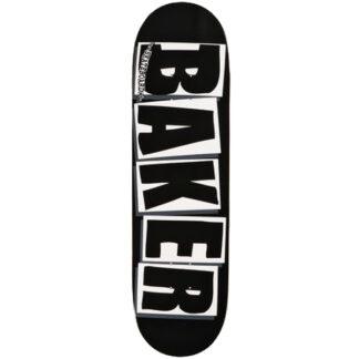 """BAKER TEAM BRAND LOGO 8.125"""" DECK BLACK/WHITE"""