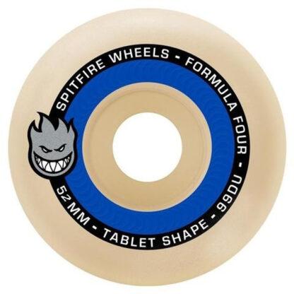 SPITFIRE WHEELS FORMULA FOUR TABLETS 52MM 99A (NATURAL BLUE)