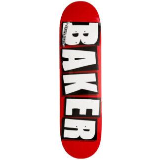 """BAKER TEAM BRAND LOGO 8.125"""" DECK WHITE"""