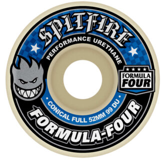SPITFIRE WHEELS F4 FULL CONICAL 52MM 99A WHITE BLUE