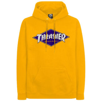 THRASHER DIAMOND LOGO HOODIE YELLOW