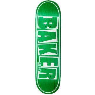 "BAKER FIGGY BRAND NAME 8.25"" DECK GREEN"