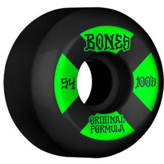 BONES WHEELS OG FORMULA V5 100A 54MM BLACK SIDECUT