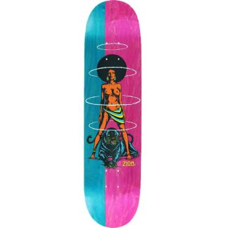 """REAL ZION WRIGHT QUEEN SPLIT 8.06"""" DECK TEAL/PINK"""