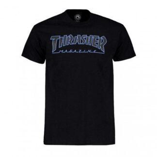 THRASHER OUTLINEDT-SHIRT BLACK BLACK